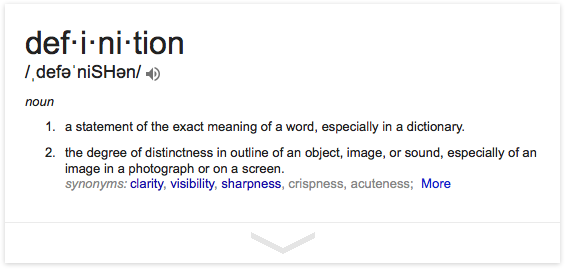 "Google ""define:definition"""
